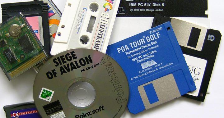 A range of old data media